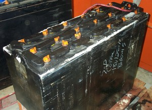 Battery before being Overhauled